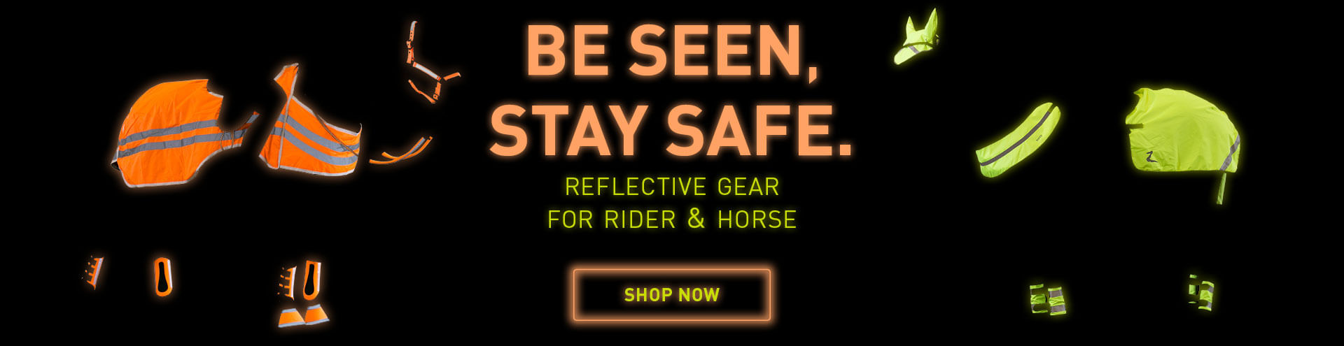 Horze Reflective gear for rider and horse