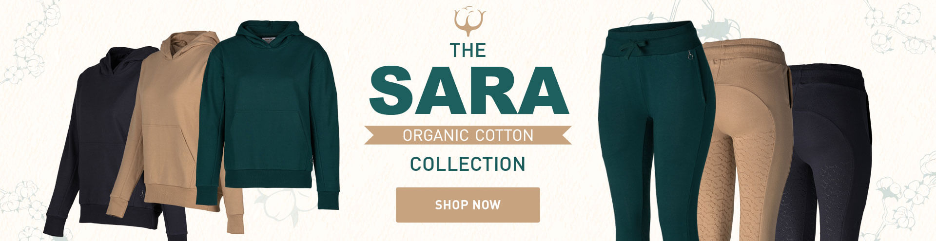 Equinavia Horze Sara Organic Cotton Riding tights and Hoodie collection