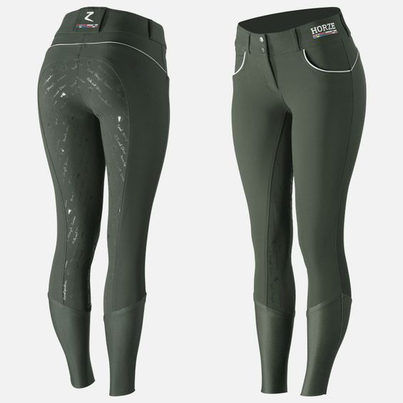 Horze Women's Nordic Performance Full Seat Breeches - Silicone Grip 36234-LDGR-34