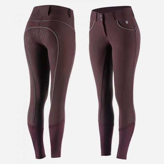 Horze Women's Lucia Silicone Full Seat Breeches 36624-PDRE-44