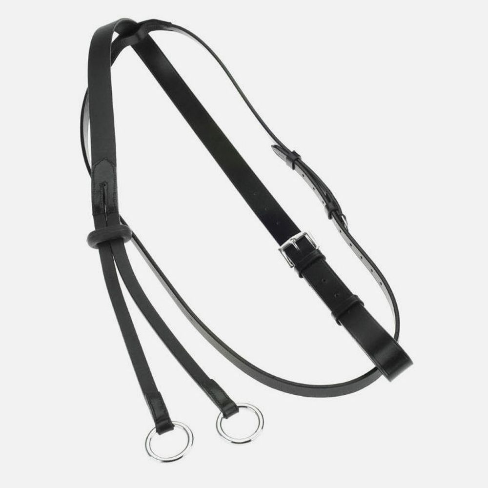 Horze Two Ring Martingale Black Horze Equestrian