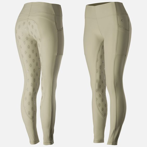 Horze Women's Leah Full Seat Tights - UV Protect 36219-LBR-34